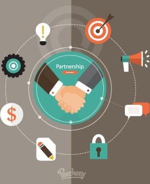partnership concept flat design