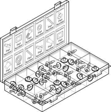 Parts Container clip art