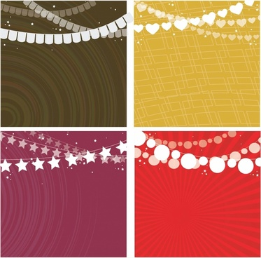 Party Garlands Background