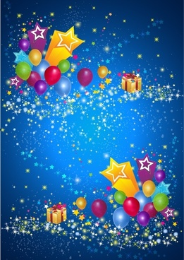Party Star and Balloon Background