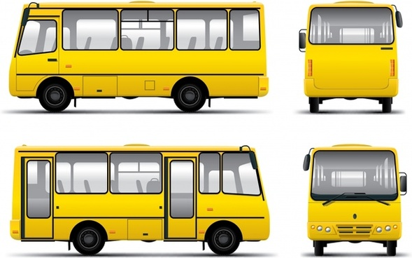 passenger vehicle bus vector