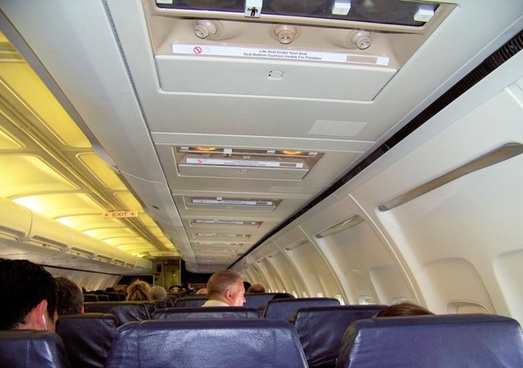passengers inside a plane