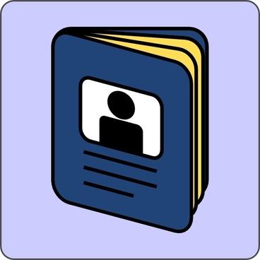 Passport Icon clip art