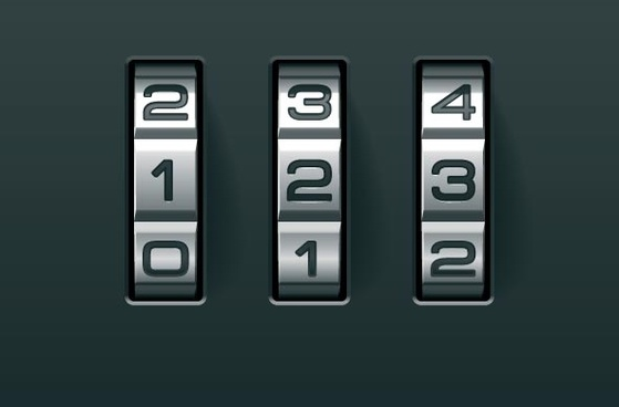 password lock background vector