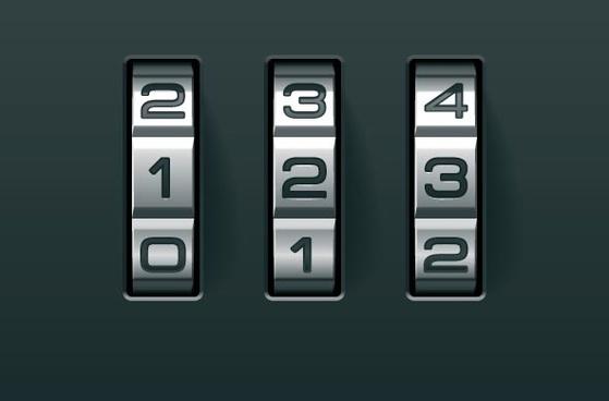 password lock background vector