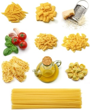 pasta and vegetables and highdefinition picture