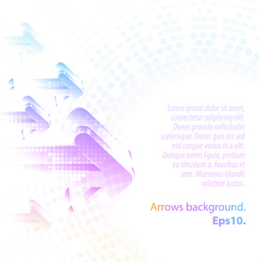 pastel colors background with arrows vector
