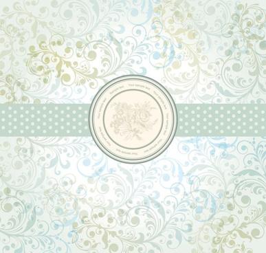 pastel floral 01 vector