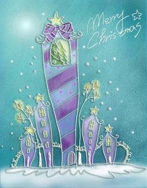pastels handpainted christmas illustrator psd layered 10