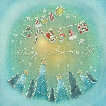 pastels handpainted christmas illustrator psd layered 1