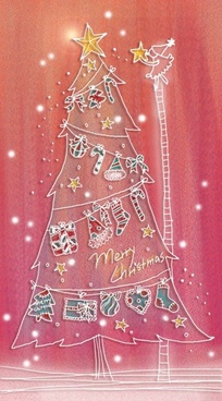 pastels handpainted christmas illustrator psd layered 2