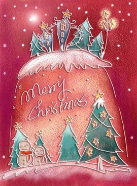 pastels handpainted christmas illustrator psd layered 4