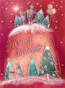 pastels handpainted christmas illustrator psd layered 4