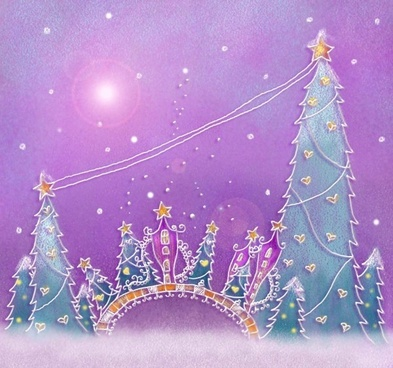 pastels handpainted christmas illustrator psd layered 5