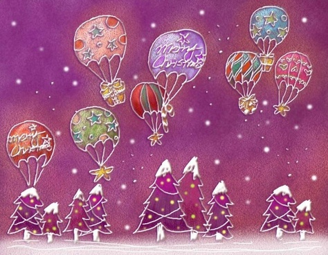 pastels handpainted christmas illustrator psd layered 8