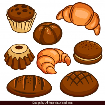 pastry design elements classical design handdrawn sketch