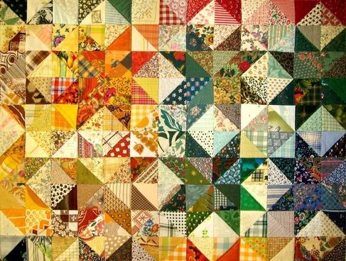 patchwork fabric padding