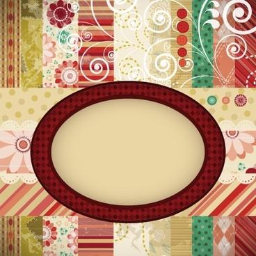 decorative background template colorful elegant retro blended