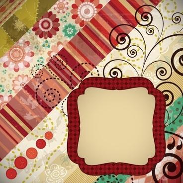 card cover background template colorful elegant retro decor