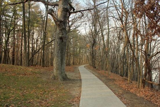 pathway at pikes peak state park iowa