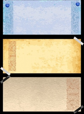 vintage pattern templates colored elegant plain decor