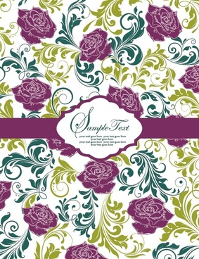 pattern background card 01 vector