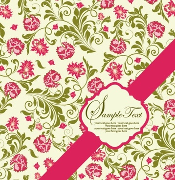 pattern background card 04 vector