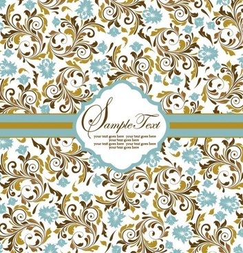 pattern background card 05 vector