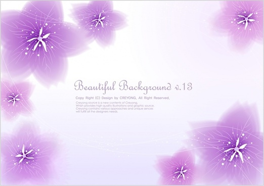 flowers background bright violet design