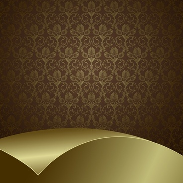 decorative pattern shiny golden symmetrical decor