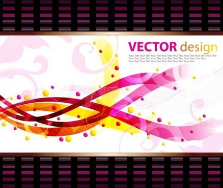 decorative background shiny modern colorful dynamic curves