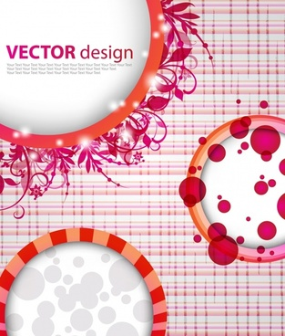 decorative background floral circles decor modern design