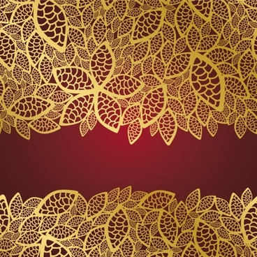 floral leaves background classic flat design