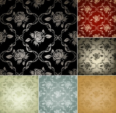 flower pattern templates elegant classical decor