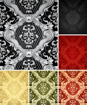 decorative pattern templates retro elegant royal decor