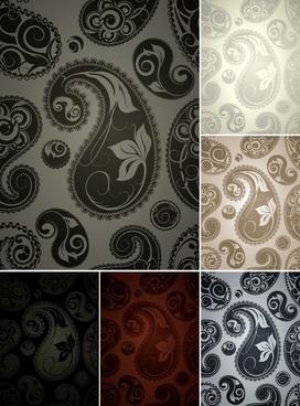 decorative patterns dark traditional retro swirled leaf sketch