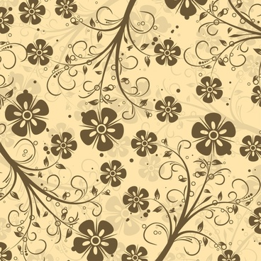 floral pattern template elegant flat retro decor