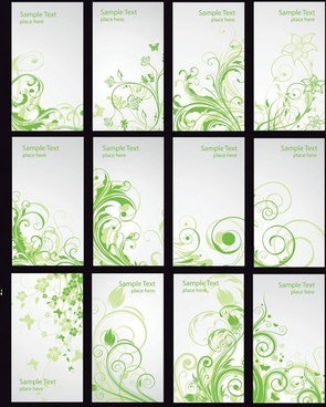 pattern card template vector fashion