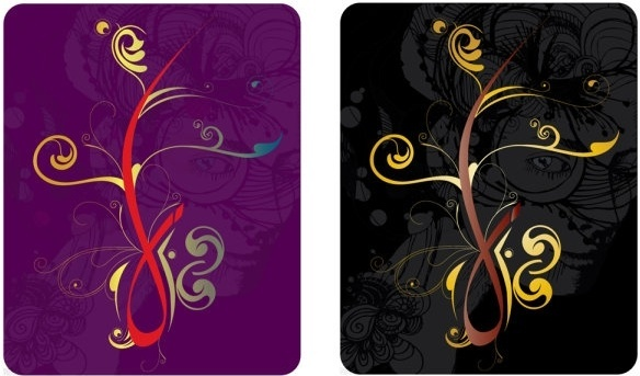 pattern cards vector