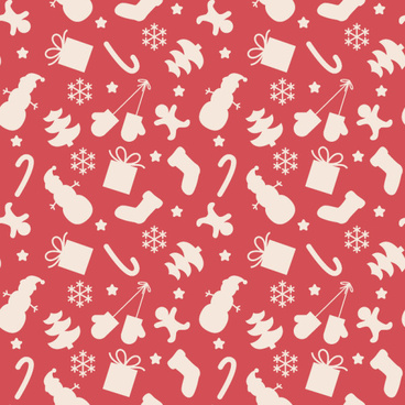 pattern christmas elements seamless vector set