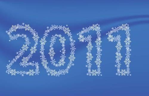pattern consisting of digital 2011 vector