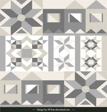 pattern decor elements classical symmetric shapes