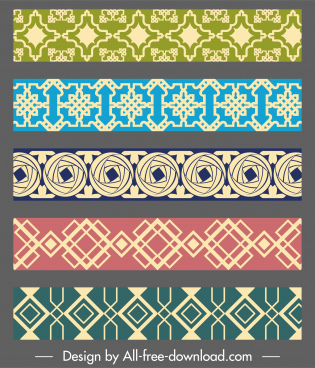pattern elements templates elegant classical flat symmetric repeating