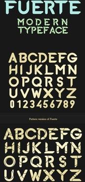 pattern fuerte font vector