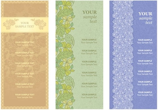 pattern menu background 03 vector