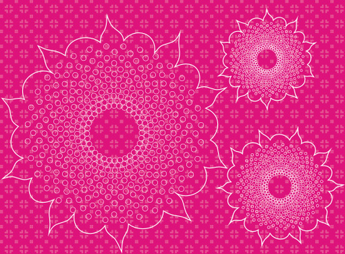 pattern of flowers vector