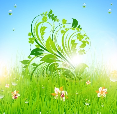 pattern of green grass 02 vector