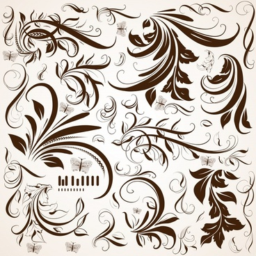 floral pattern classical curves ornament