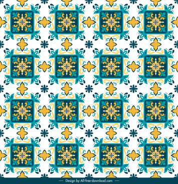 pattern template classical design colorful repeating symmetric