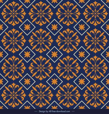 pattern template classical repeating symmetric petals sketch